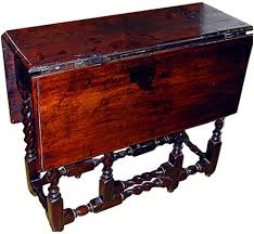 Drop Side Table A 18th Century Jacobean Walnut Drop Leaf Side Table No 609
