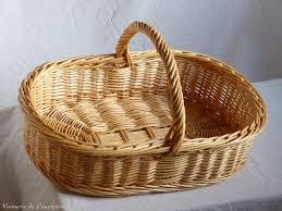 panier rond en osier panier à beurre en osier artisanat vente en ligne