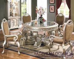 traditional round glass dining table traditional dining room tables decolonialfoodforthought com