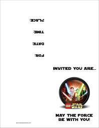 Create Birthday Invitation Cards Star Wars Birthday Invitation Template Kawaiitheo Com