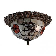 Wrought Iron Ceiling Lights Glamorous Two Lights Shell Shade Wrought Iron Framework