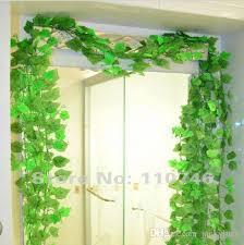 beautiful green grape leaves vine ivy simulation plastic flower