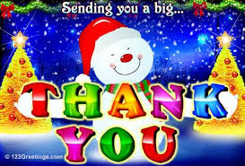 free thank you ecards thank you card to a friend of mine favorite christmas card