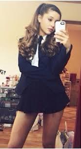 White Blouse With Black Bow Blouse Ariana Grande White Black Bow Top Skirt Black Skirt
