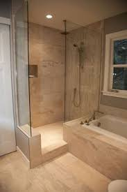 walk in shower ideas for small bathrooms interesting way to separate shower and bath in a small bathroom