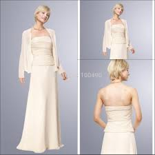 online shop elegant a line strapless ivory chiffon mother of the