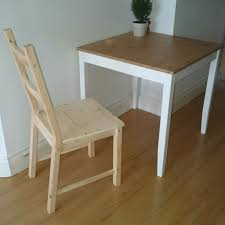 ikea lerhamn table 74 74cm and one chair in aldgate london