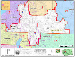 Washington State Map by File Washington State 1st Legislative District Map 2002 12 Png
