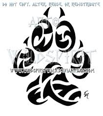 wolf paw print tribal by wildspiritwolf on deviantart