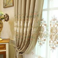tende per sala da pranzo europea ombra cotone flanella ricamo garza tenda prodotto
