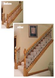 Replace Stair Banister Replacing Wood Balusters With Iron Balusters