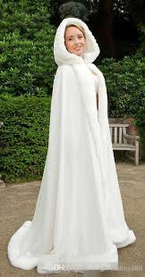 wedding dress jacket 2018 2015 winter white wedding cloak cape hooded with fur trim