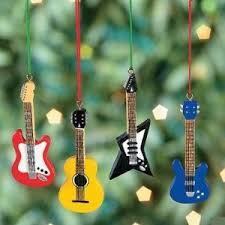 resin guitar tree ornaments set of 4 home