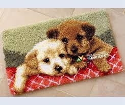 latch hook rug kits diy needlework unfinished crocheting rug