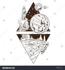 mars planets stars solar system symbols stock vector 550565872