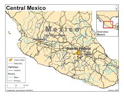 Map Of Central Mexico by Jay Johnson U0027s Uwf Gis Blog January 2013