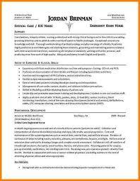 example resume icu nurse cover letter icu nurse best intensive