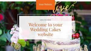 wedding cakes website templates godaddy
