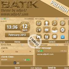 udjo42 themes for nokia c3 udjo42 high quality nokia themes nokia c3 theme batik