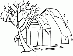 house winter colouring pages 528759 coloring pages for free 2015
