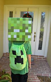 Minecraft Costume Halloween Easy Diy Minecraft Creeper Bag Kerryannmorgan