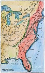 colonial map colonial america map photograph by granger