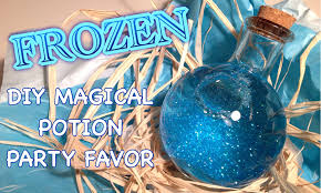 home decor disney frozen themed diy magical potion birthday party