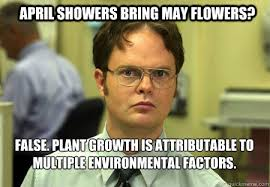 May Meme - april showers bring may flowers false plant growth is