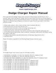 2009 dodge charger owners manual dodge charger repair manual 2006 2012