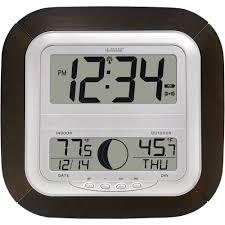 la crosse technology digital wireless atomic clock with moon phase digital wireless atomic clock with moon phase