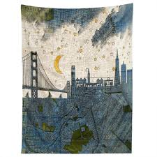 Castle San Francisco by Belle13 San Francisco Starry Night Tapestry Deny Designs Home