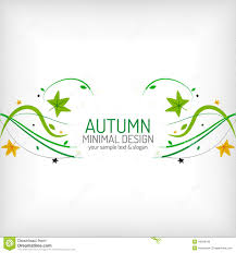 seasonal autumn greeting card minimal design stock vector image