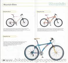 peugeot mountain bike peugeot 1999 germany brochure