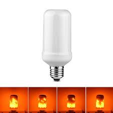 led flame effect fire light bulbs e27 e26 2835 led flame effect fire light bulbs 7w creative lights