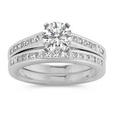 princess cut wedding set cathedral princess cut diamond wedding set with channel setting