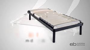 European Bed Frames Adjustable Slatted Bed Base Provides Customised Sleeping Comfort