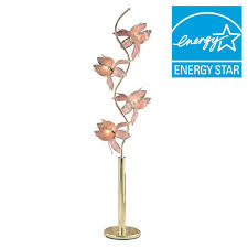 Gold Floor Lamp Ore International 73 In Pink And Gold Floor Lamp K9334g The