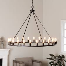 Best Shop Lights by Y D Cor U0027verdun U0027 24 Light Chandelier In Raw Iron Grey By Y Decor