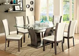 buy furniture of america cm3710gy t set manhattan i gray dining