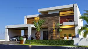 3d front elevation com contemporary house design 2016