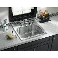 kohler staccato drop in sink kohler k 3362 1 na staccato stainless steel kitchen sinks sinks