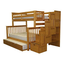 Bunk Beds  Kids Bunk Beds With Stairs And Storage Wooden Bunk - Kids wooden bunk beds