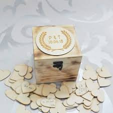 Keepsake Box Personalized Personalized Memory Box Rustic Wedding Guestbook Custom Wood