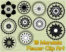 10 mandala clip art lotus flower clipart printable digital