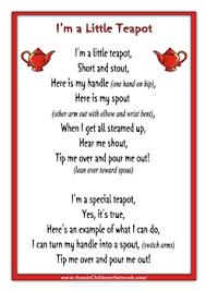 im a little teapot rhymes worksheet rhymes pinterest nursery