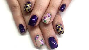 watch me work hard gel nail fill with floral nail art u0026 stamping