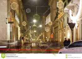 christmas decorations on milan streets editorial photo image