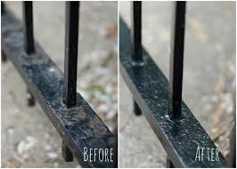Painting A Banister Black How To Paint Wrought Iron It All Started With Paint