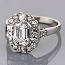 Art Deco Wedding Rings by Art Deco Style Engagement Rings Wedding Promise Diamond