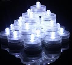 submersible led tea lights signstek set of 36 submersible waterproof wedding underwater tea